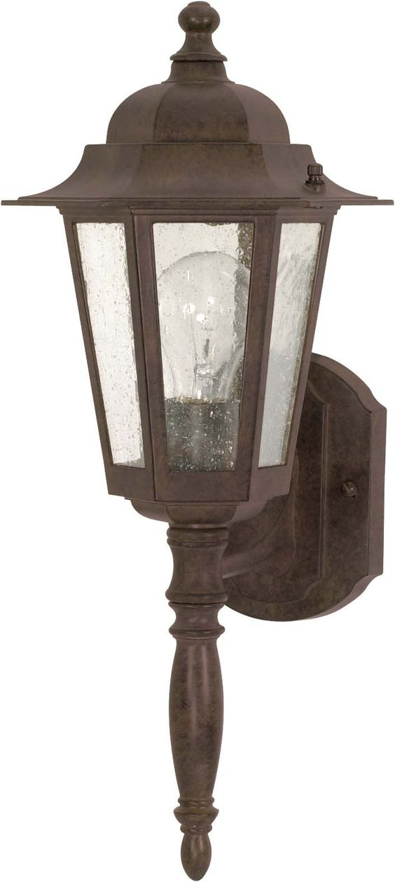 Nuvo Cornerstone - 1 Light - 18 inch - Wall Lantern - w/ Clear Seed Glass