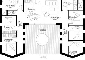 Plan Maison En U De Plain Pied Ooreka A1group Co Avec Plan Maison Plain Pied En U 8 Avec 5 Plans De Maison 5 Chambres Plan Maison Plain Pied Maison Plain Pied
