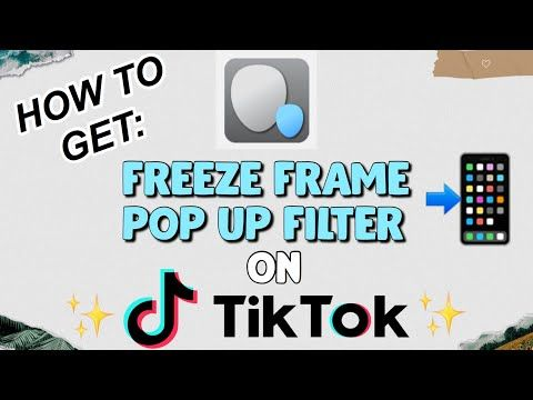 How To Get Freeze Frame Pop Up Filter On Tiktok Photogenic Check Youtube Pop Up Frame Basic Editing How To Get