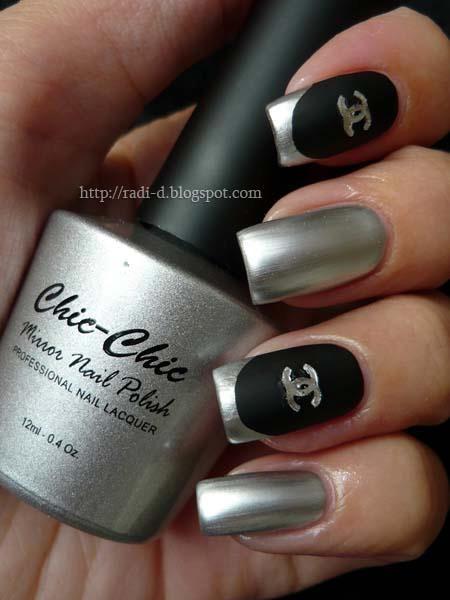 Chic chic mirror nail polish 08 silver polishes swatch for Mirror nail polish