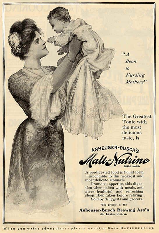 Anhheuser-Busch Malt-Nutrine tonic for infants & invalids circa early 1900's