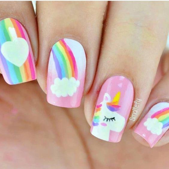 56 Best Unicorn Nail Designs And Ideas Unicorn Nails Designs Kids Nail Designs Unicorn Nail Art