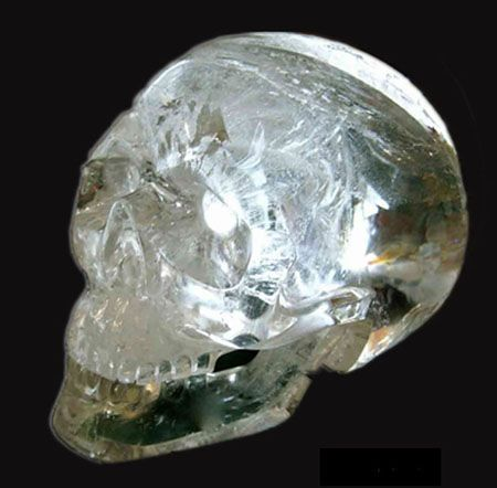 "Ancient Crystal Skull ""Compassion"" Out of Africa – by way of California – emerges another ancient skull, ""Compassion"", with a detachable jaw."