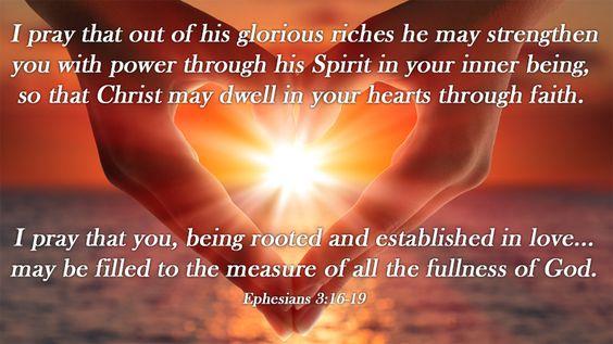 Ephesians 3:16-19