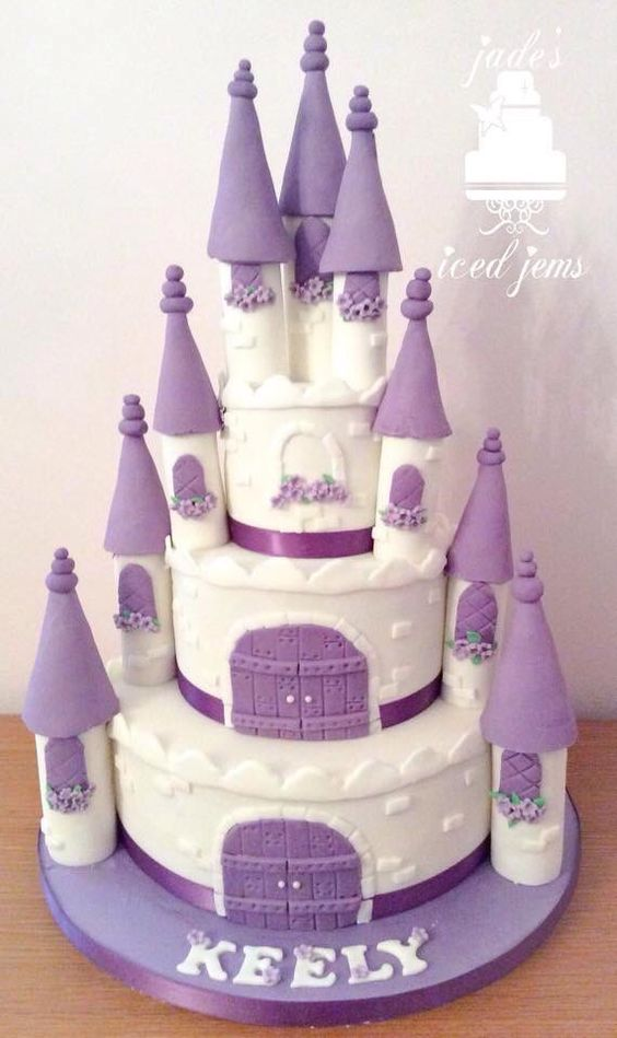 princess purple castle cake | jadesicedjems | pinterest