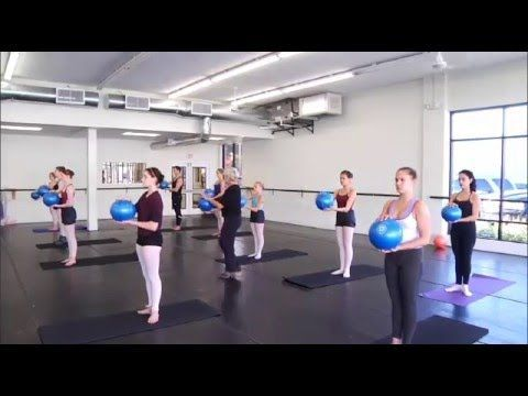 Pilates Workout With A Small Exercise Ball Youtube Ball Exercises Exercise Workout Videos