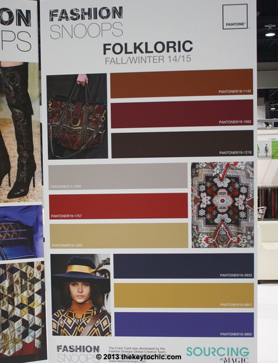 Folkloric trend color palette for fall 2014 winter 2015 #trendforecasting #fashionsnoops
