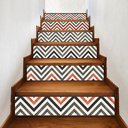 6pcs 3D Arabic Style Stair Risers Photo Mural Vinyl Decal Wallpaper Stickers New