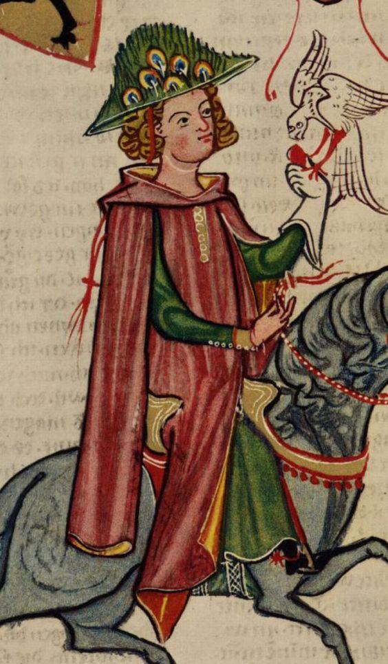 Gardecorps. Metallic buttons?  Codex Manesse 1300-1340(DE) 141 (Zürich, Switzerland)