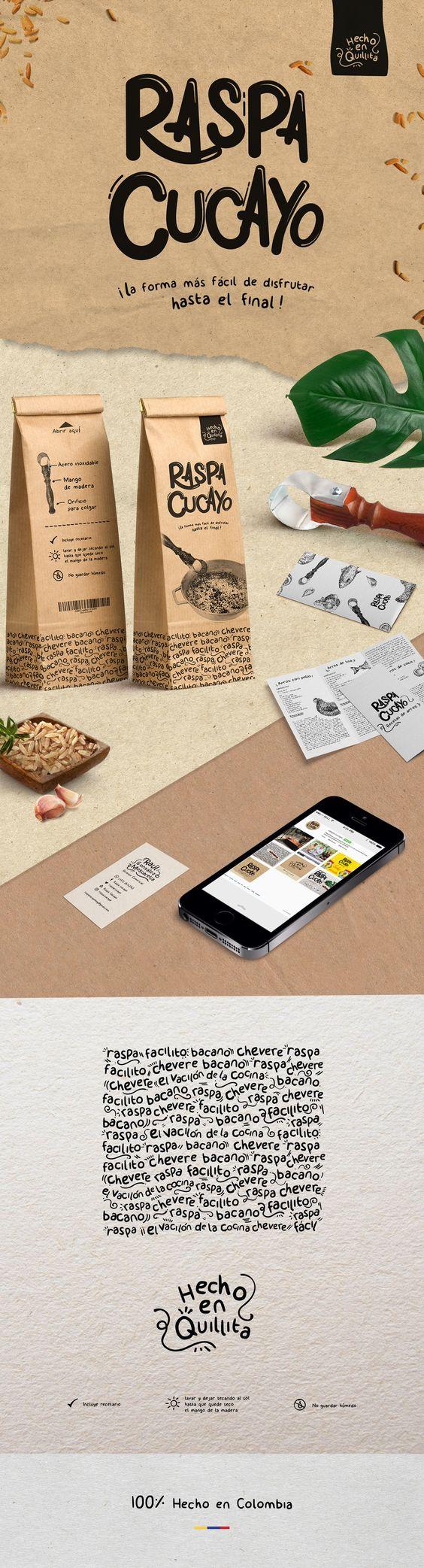 Raspa Cuayo - Diseño de marca y empaque para el producto Colombiano 100% hecho a…