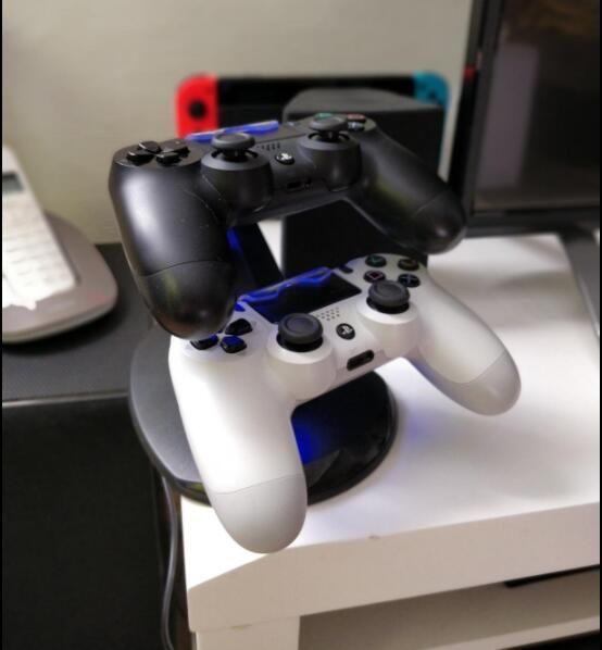 Consoles De Jeux Ps4 Controller Double Support De Charge Ps4 Controller Double Support De Charge Accessoire Double Controle Manette Ps4 Console De Jeu Console