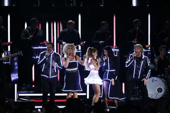 "Little Big Town and Ariana Grande perform ""Bang Bang""  at ""The 48th Annual CMA Awards,"" live Wednesday, Nov. 5 at the Bridgestone Arena in Nashville and broadcast on the ABC Television Network. on CMA Awards  http://www.cmaworld.com/cma-awards/social-gallery/little-big-town-and-ariana-grande-perform-bang-bang-at-the-48th-annual-cma-awards-live-wednesday-nov-5-at-the-bridgestone-arena-in-nashville-and-broadcast-on-the-abc-television-network"