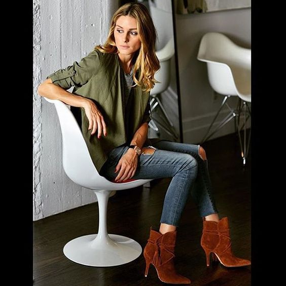 Regram @oliviapalermo looking gorgeous in the Fadhila! #schutzshoes #655madison #schutzfall Style name: Fadhila in 'Brownie' | Link in our profile to shop!: