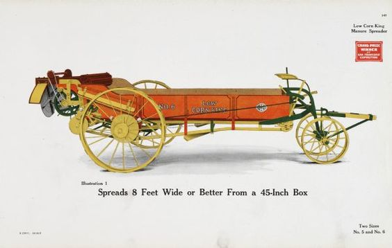 Low Corn King Manure Spreader | Print | Wisconsin Historical Society