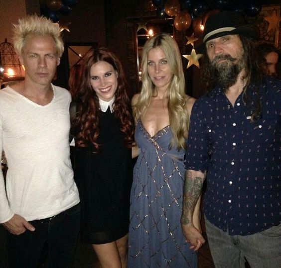 Spider One (Powerman 5000)  Chrissy Fox Connolly (Knee High Fox)  Sheri Moon Zombie Rob Zombie  Celebrating Sheris' birthday.