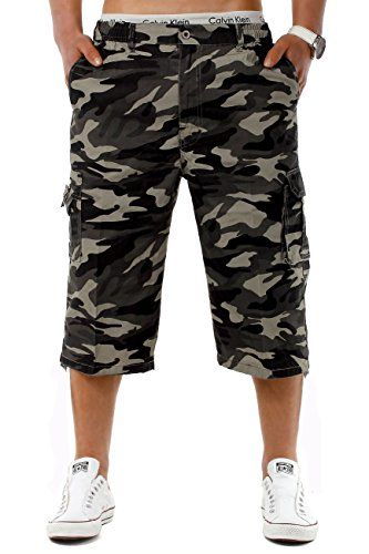 pantacourt militaire bermuda short homme camouflage taille l eclyss. Black Bedroom Furniture Sets. Home Design Ideas