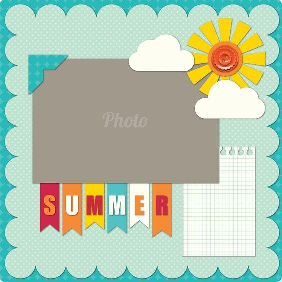 1 photo ..Summer Layout i like the flag title