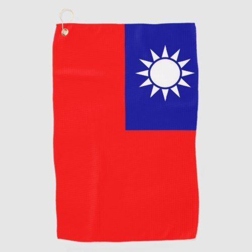 Golf Towel With Flag Of Taiwan Zazzle Com Golf Towels Taiwan Flag