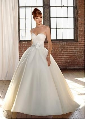 Buy discount Gorgeous Satin & Organza Satin Ball Gown Sweetheart Neckline Wedding Dress With Beadings and Handmade Flower at dressilyme.com