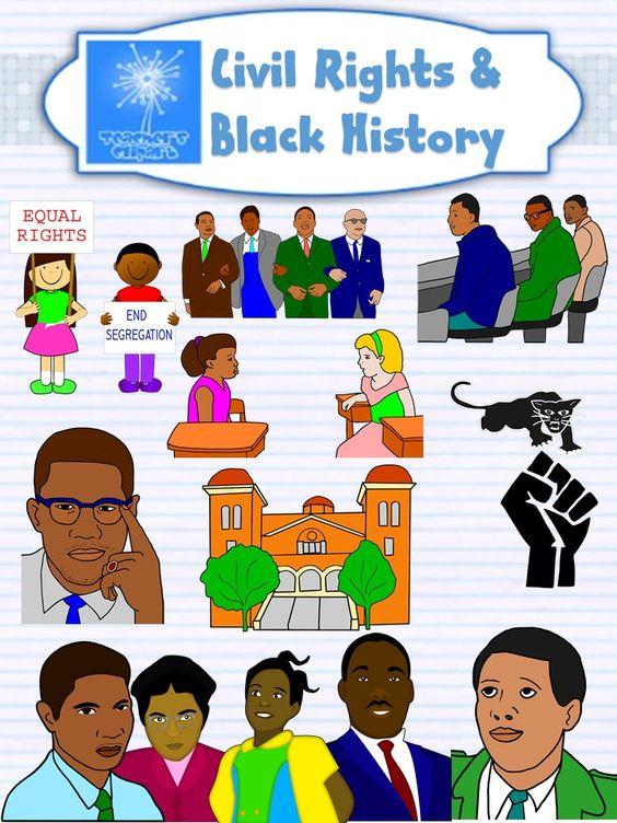 Black History - Civil rights movement clipart {Social Studies clip ...