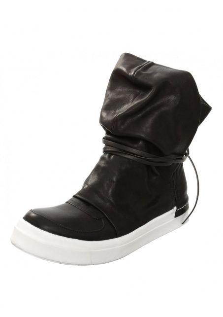 Womens Wedge Skin Cap Lace Boot Black