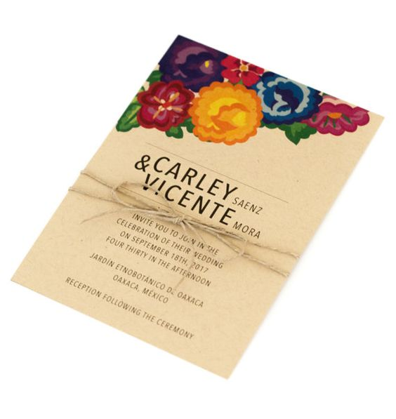 Colorful Wedding Invitations  Floral Nature by JPstationery