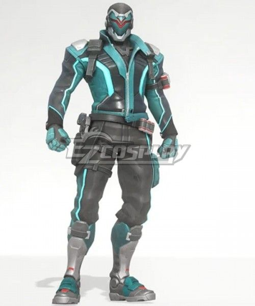 Overwatch Cosplay Costume Soldier 76 Jack Morrison Leather Full Outfit Set V2