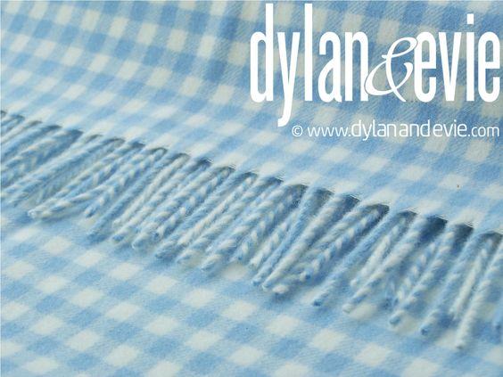 Dylan & Evie Baby Blanket Blue Gingham. £ 45. 75 x 125cm.