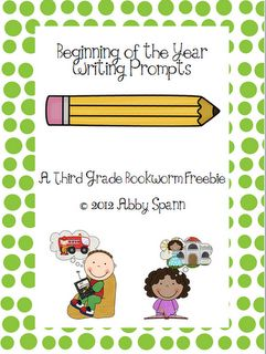 Classroom Freebies Too: Beginning of the Year Writing Prompts