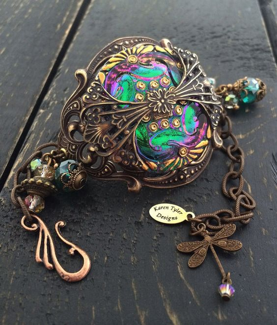 Victorian Vintage Bracelet Bohemian Czech by KarenTylerDesigns, $58.99