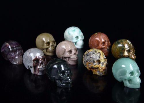 CRAZY LACE AGATEGREEN AVENTURINE FLUORITE...Carved Crystal Skulls https://t.co/n7ojmBeQpz https://t.co/EFU1uNx6pX