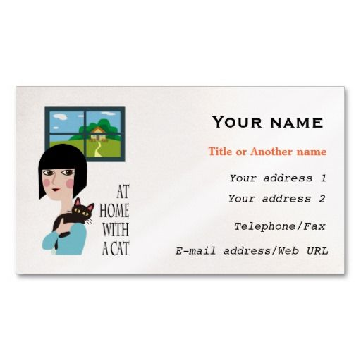 With a Cat Business Card Template