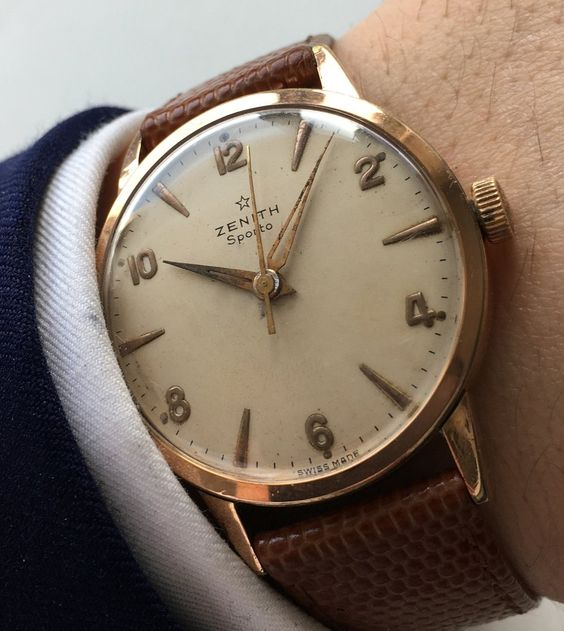 Zenith Sporto Pink gold plated Vintage