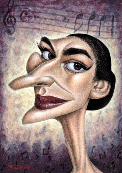 Risultati immagini per maria callas singer cartoon symbol