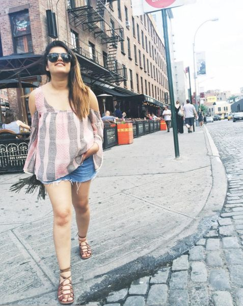 Summer Outfit, Chic Outfit, Warm Weather, Spring Outfit, Denim, Outfit of the day, Dinner Outfit, Casual Outfit, Lace Ups, Gladiators, Burgundy Bag, Travel Outfit, Brunch Outfit, Street Style, Streets, New York City, Out and About