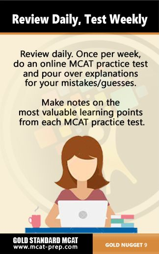 When do college students usually take the MCAT if they are planning to go to med school?