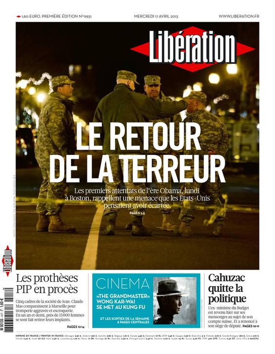 Libération - Mercredi 17 Avril 2013 - N° 9931