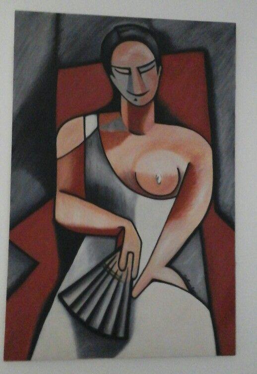 Mulher com Leque de Picasso by CrisLyra
