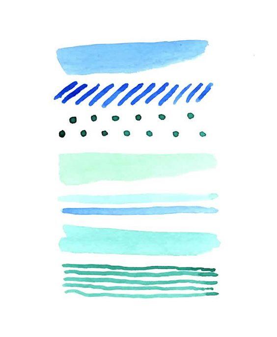 blue-green watercolor
