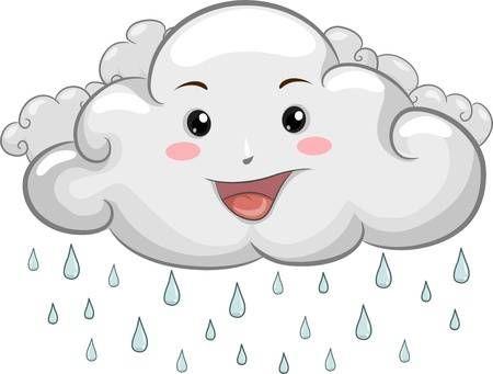 Stock Photo Nubes De Lluvia Lluvia Y Imagenes De Emoji