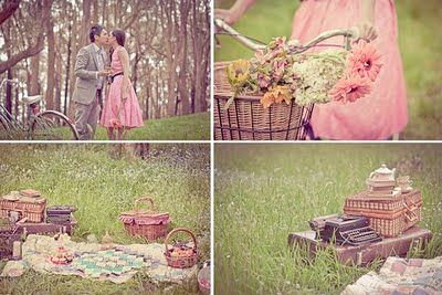 Verlobungsbilder: Wald + Abendgarderobe + Picknick + Romantik