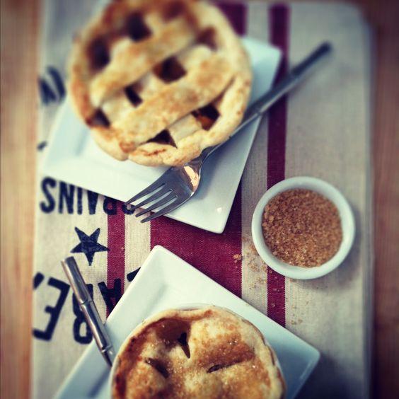 Peach Bourbon Pies