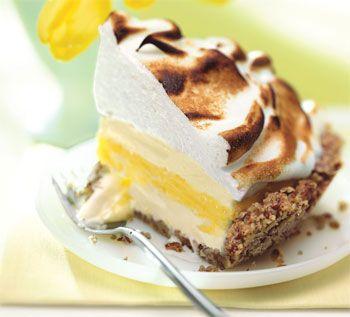 Lemon Meringue Ice Cream Pie in Toasted Pecan Crust