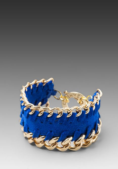 Bracelet in Electric Blue Suede