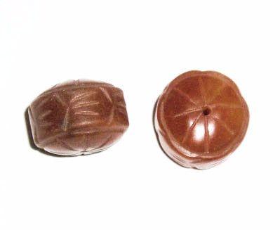Carnelian carved rondelle Beads - Vintage
