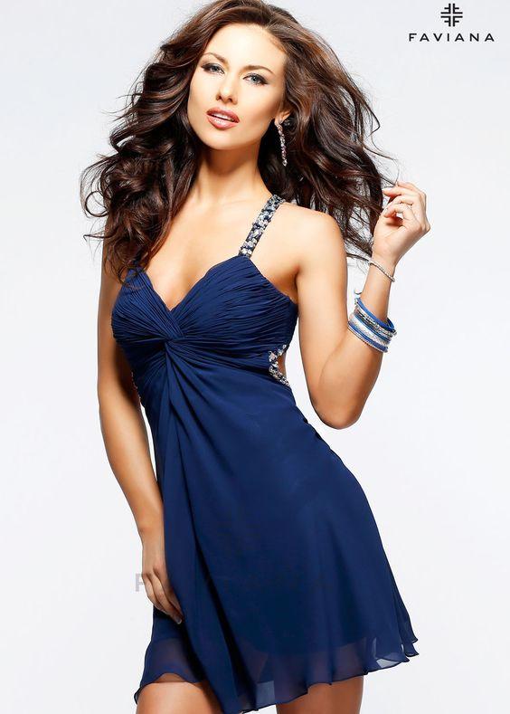 2013 homecoming dresses faviana 7212 blue beaded chiffon