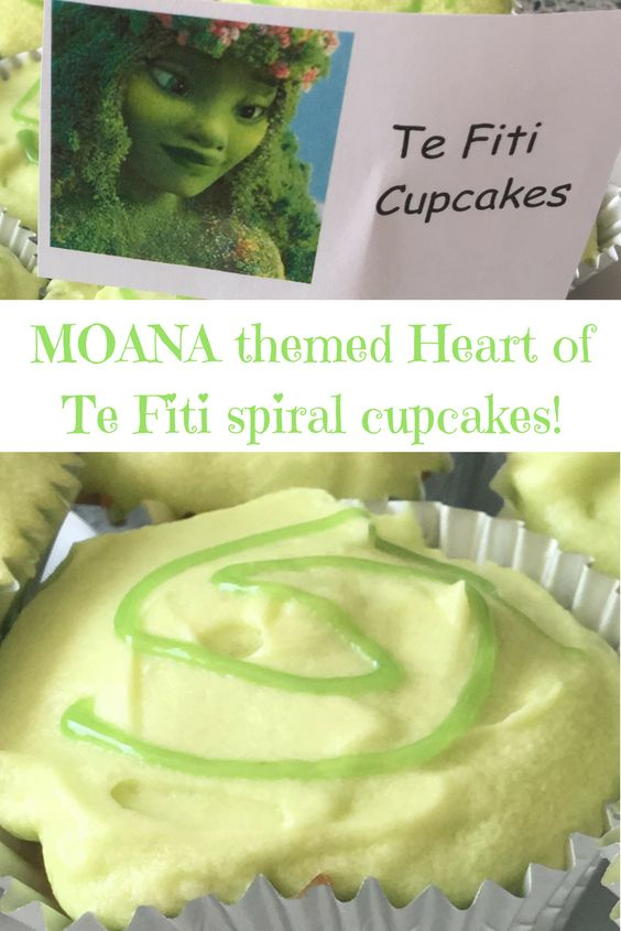 Perfect cupcakes for the best Moana party ever!