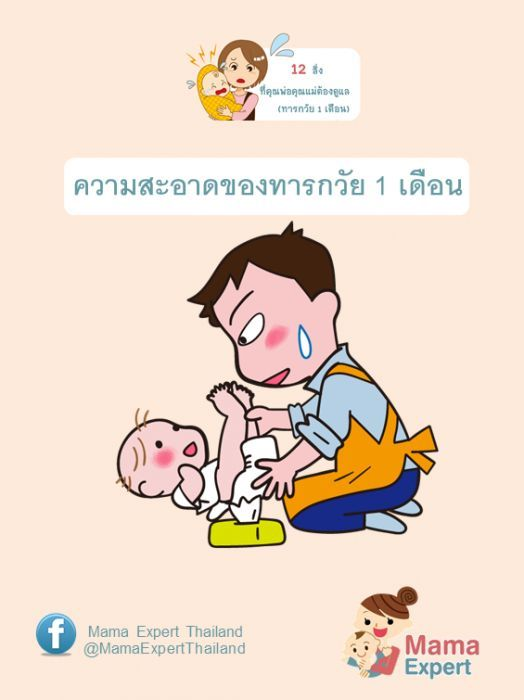 การเล ยงทารกว ย1เด อนไม ง าย เพราะทารกว ย1เด อนไม ค นช นก บแม ม อใหม การ ด แลล กว ย1เด อน การให นมล ก1เด อน และ การส งเกตอาการผ ดปกต ของล ก ว ย1เด อนเป นอย างไ