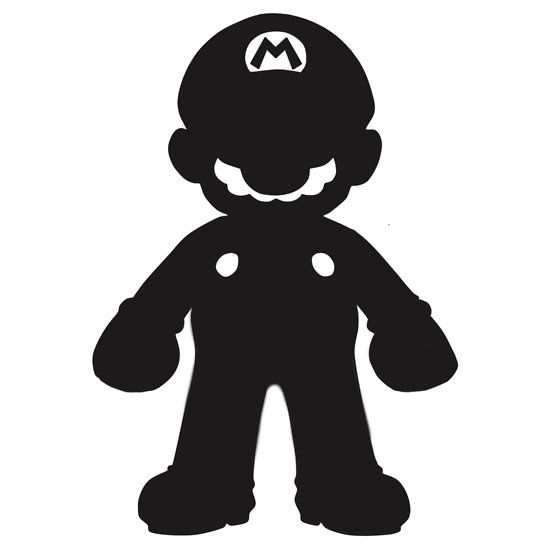 silhouette mario - Google Search | Super Mario Bros ...