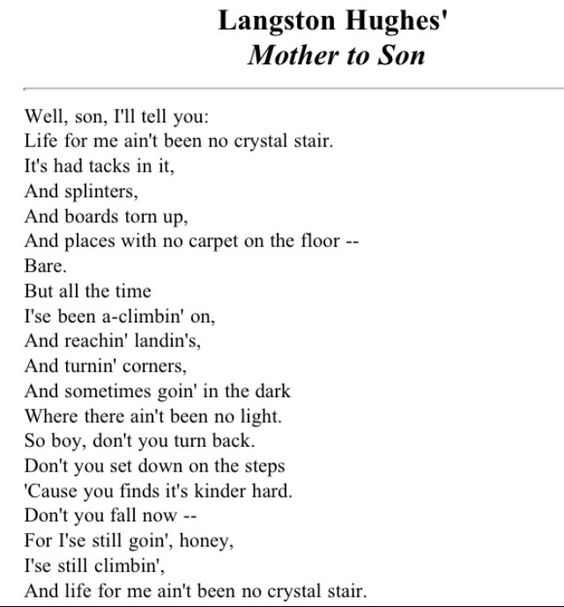 langston hughes mother son essay langston hughes mother son